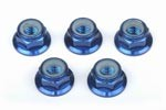 Part#: 34510B - M 5 Aluminum Flange Lock Nuts, Blue (5)