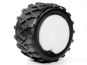 Part#: 43003 - Monster Truck Tires W/ Inserts - Checks (Pair)