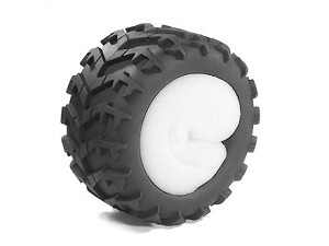 Part#: 43006 - Monster Truck Tires W/ Inserts - Claws (Pair)