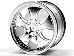 Part#: 44003 - Monster Truck Wheels - Oval Chrome (Pair)