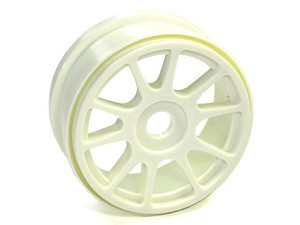 Part#: 44201 - 1/8 Buggy Wheels - White Spoke (Pair)