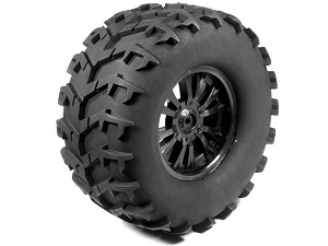 "Part#: 45014 - Pre-Mounted Massive Monster Tires - Spoke W/Claws (Pair) 6.75"" Od 3.25"" Wide (17Mm Hex)"