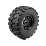 Part#: 45014 - Pre-Mounted Massive Monster Tires - Spoke W/Claws (Pair) 6.75
