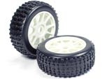 Part#: 45201 - 1/8 Buggy Pre-Mounted Tires, White Spoke W/ Sports Oval Spikes (Pair)